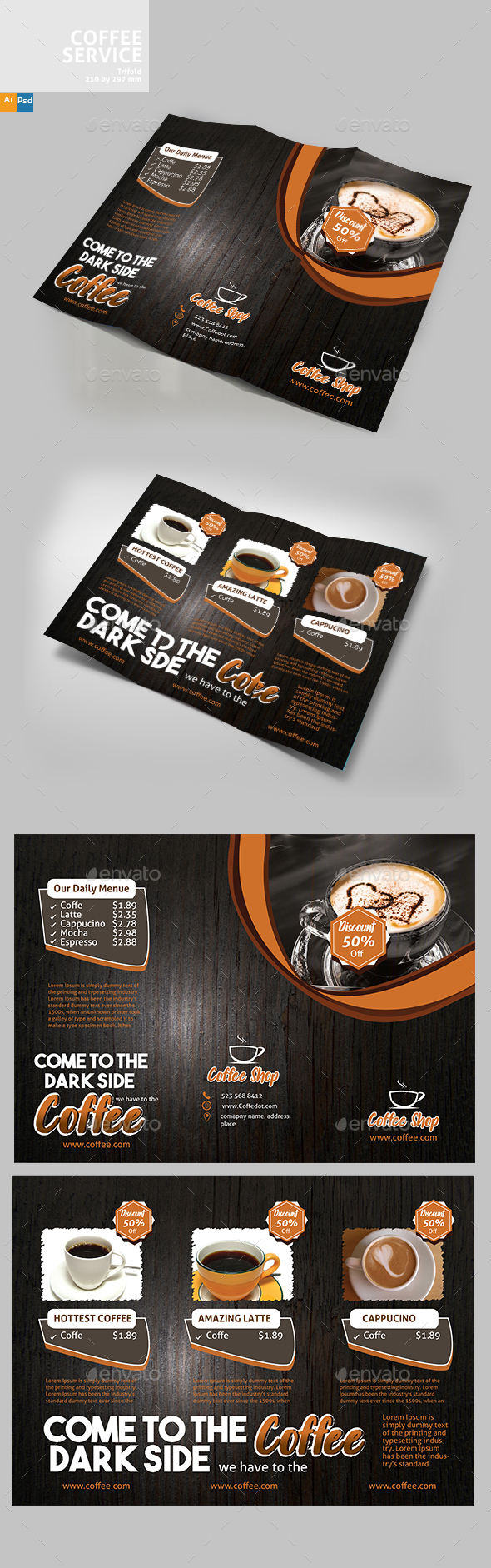 GraphicRiver Coffee Brochure 20840760