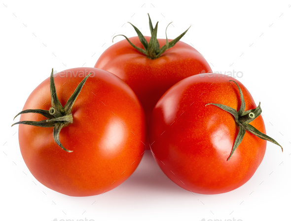 Three tomatoes - Stock Photo - Images