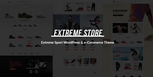 Extreme | Sports Clothing & Equipment Store WordPress Theme - WooCommerce eCommerce