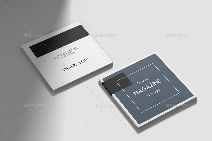Square magazine mockup vol 2 by graphiccrew graphicriver previewsetzippsd 22g reheart Image collections