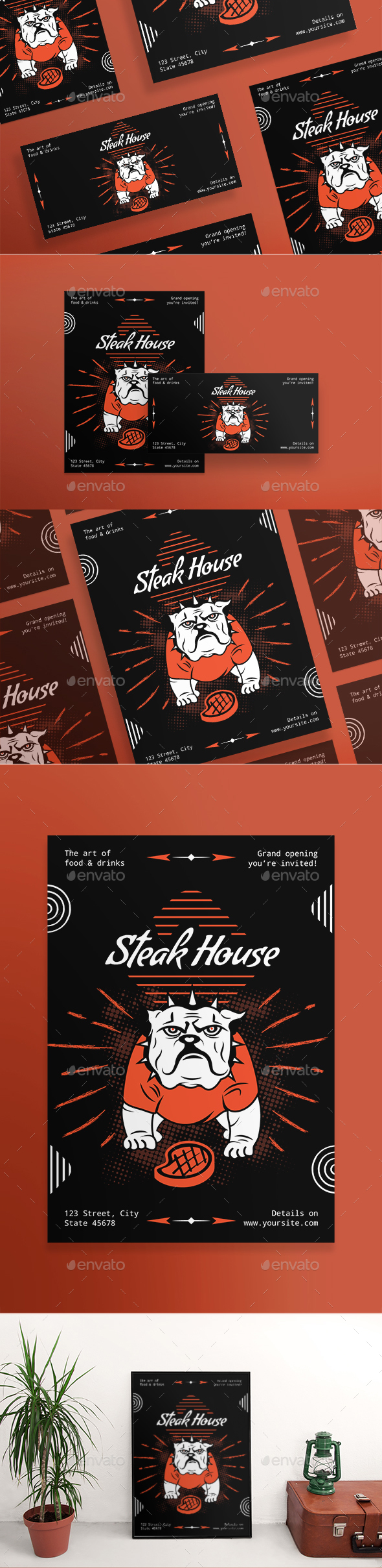 Steak House Flyers - Restaurant Flyers