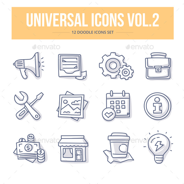 GraphicRiver Universal Doodle Icons vol.2 20840850
