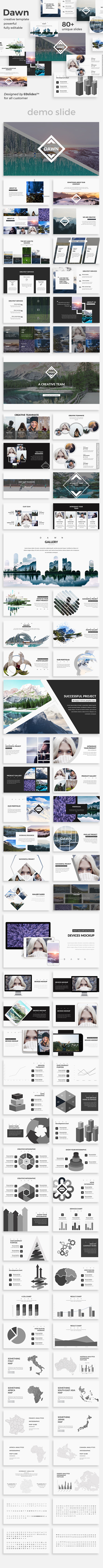 Dawn Creative Keynote Template - Creative Keynote Templates