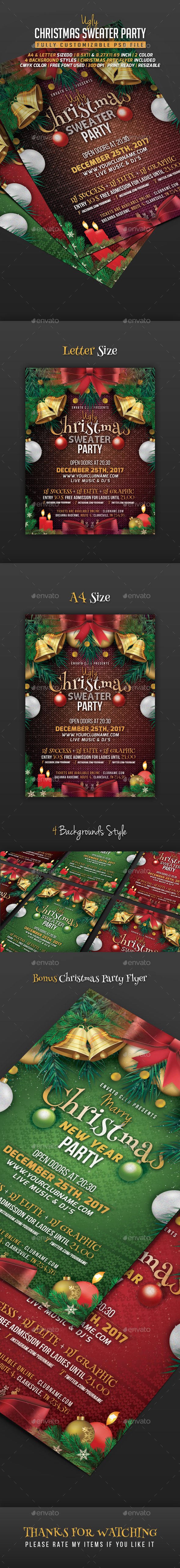 GraphicRiver Ugly Sweater Christmas Flyer 20821001