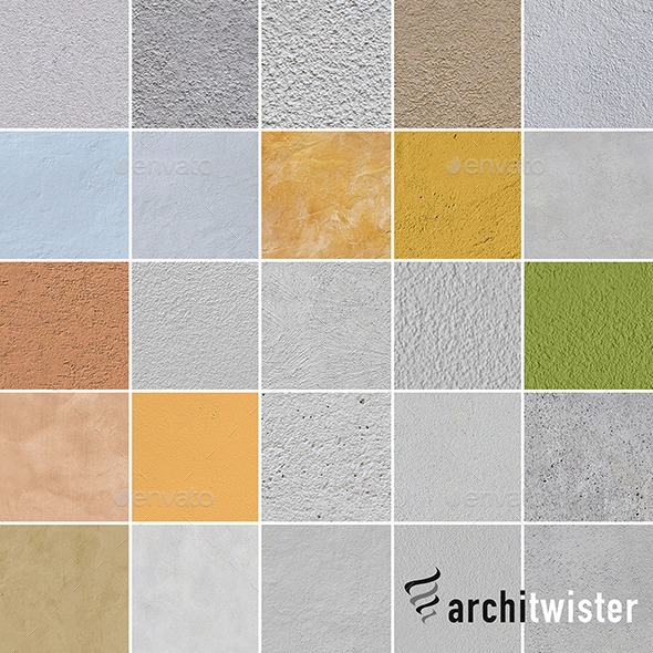 25 Seamless Plaster Textures - 3DOcean Item for Sale