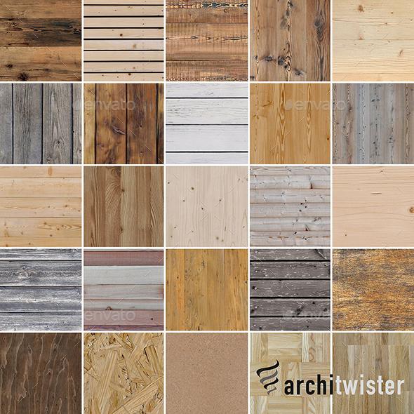 3DOcean 25 Seamless Wood Textures 20841189