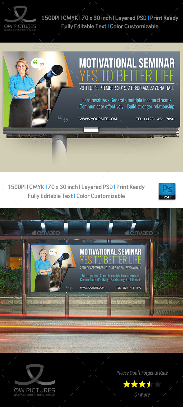 GraphicRiver Seminar Billboard Template 20841159