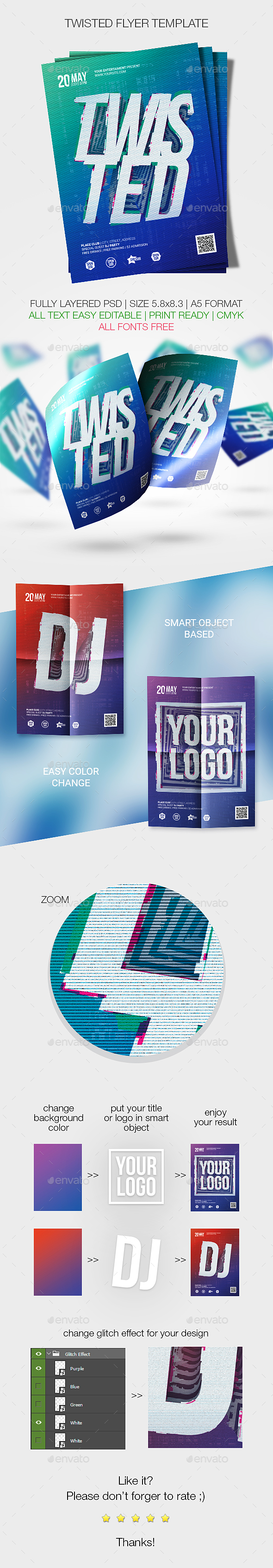 Twisted Flyer Template - Events Flyers