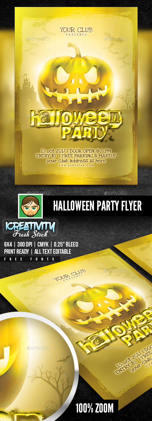 Halloween Party | Gold Pack Templates - Flyers Print Templates