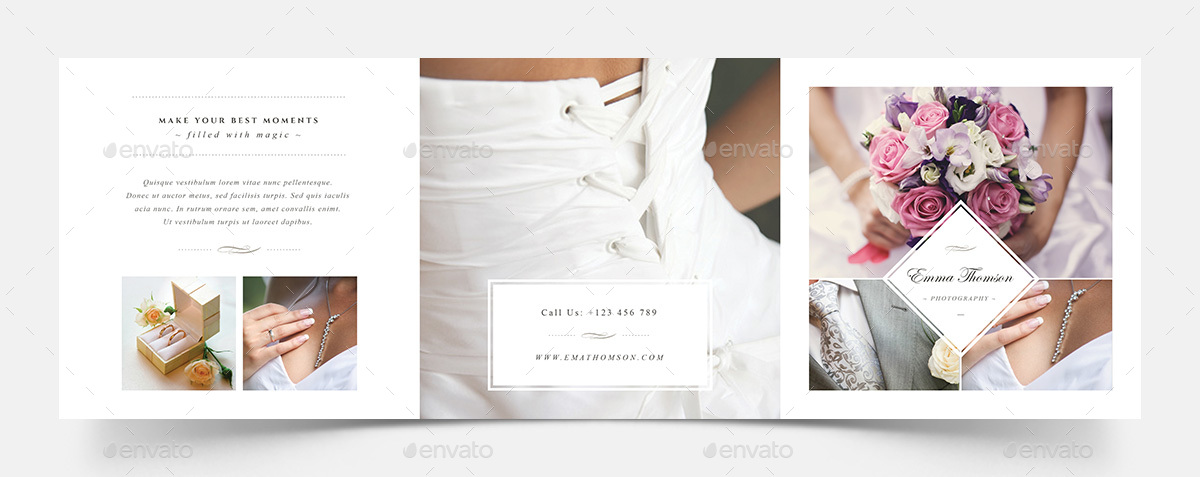 Photography Square Trifold Brochure Template by Agape_Z | GraphicRiver