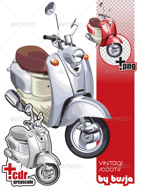 Vintage scooter - Characters Vectors