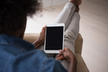 african american woman at home with digital tablet - PhotoDune Item for Sale