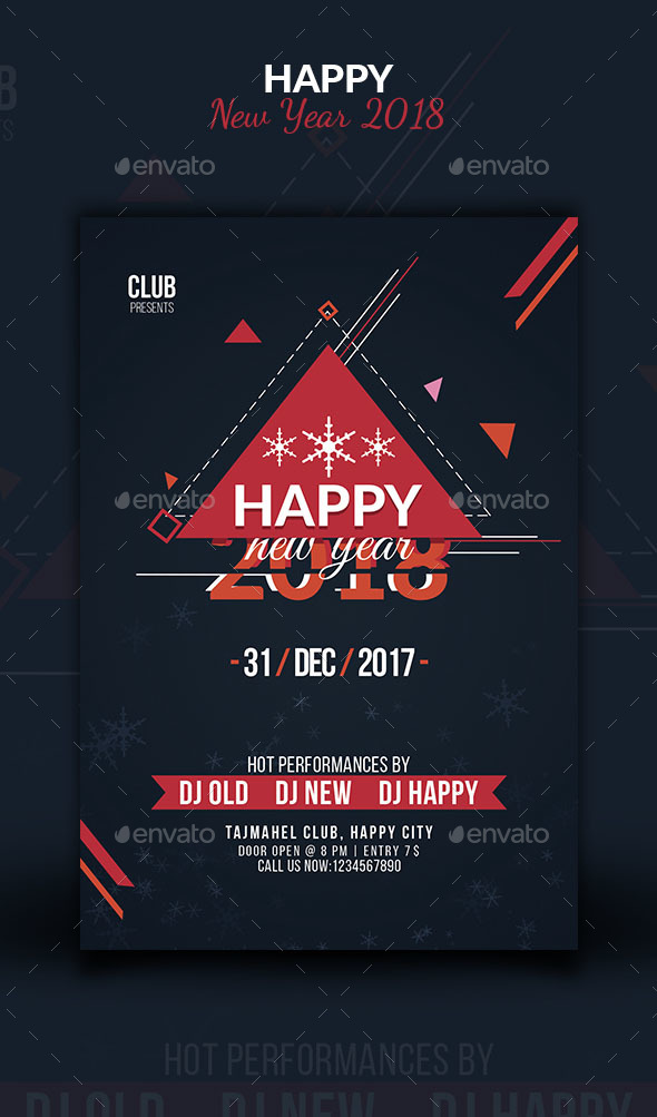 Happy New Year 2018 Flyer