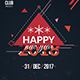 Happy New Year 2018 Flyer - GraphicRiver Item for Sale