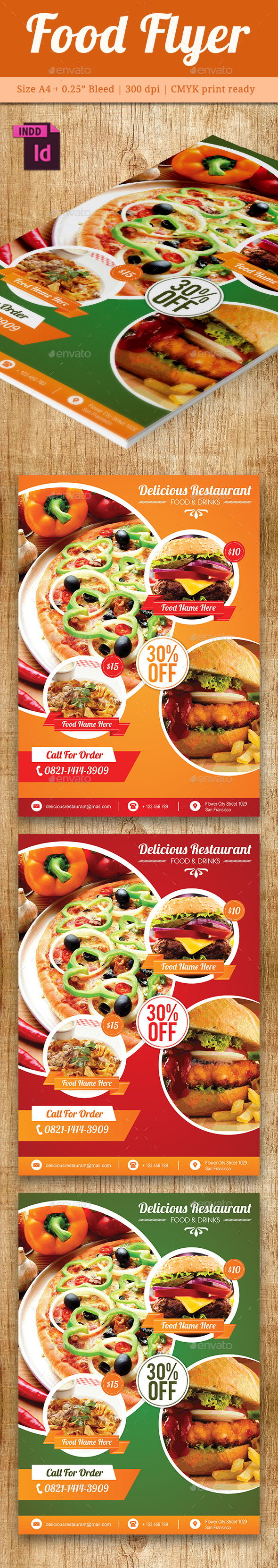 Food Flyer Template Vol. 7