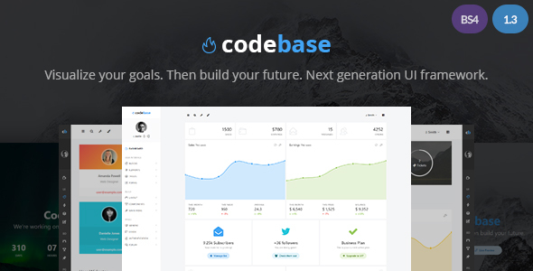 Codebase - Bootstrap 4 Admin Dashboard Template + UI Framework - Admin Templates Site Templates