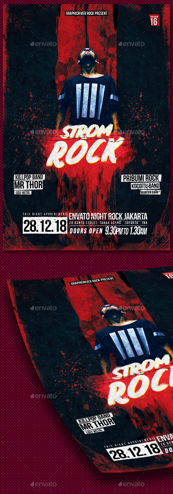 Strom Rock Concert Flyer - Concerts Events