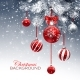 Christmas Card with Red Balls and Snow - GraphicRiver Item for Sale