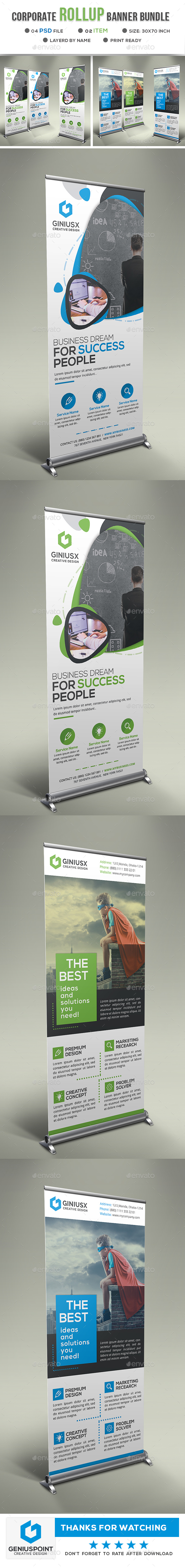 GraphicRiver Corporate Roll-Up Banner Bundle 20841550