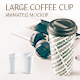 Large Coffee Cup Animated Mockup - GraphicRiver Item for Sale