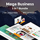 3 in 1 Mega Business Bundle Powerpoint Template - GraphicRiver Item for Sale