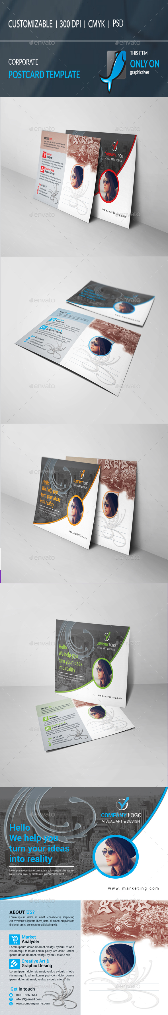 GraphicRiver Postcard Template 20842724