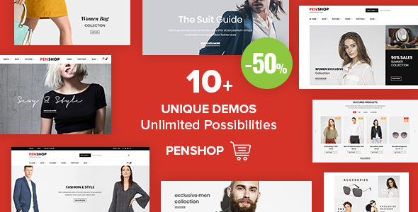 PenShop - Multi-Purpose eCommerce WordPress Theme - WooCommerce eCommerce