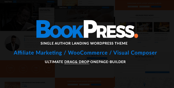 BookPress Single Author WP Landing Theme - Marketing Corporate