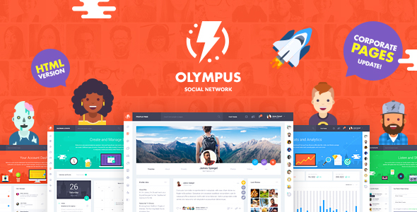 Olympus - HTML Social Network Toolkit - Site Templates