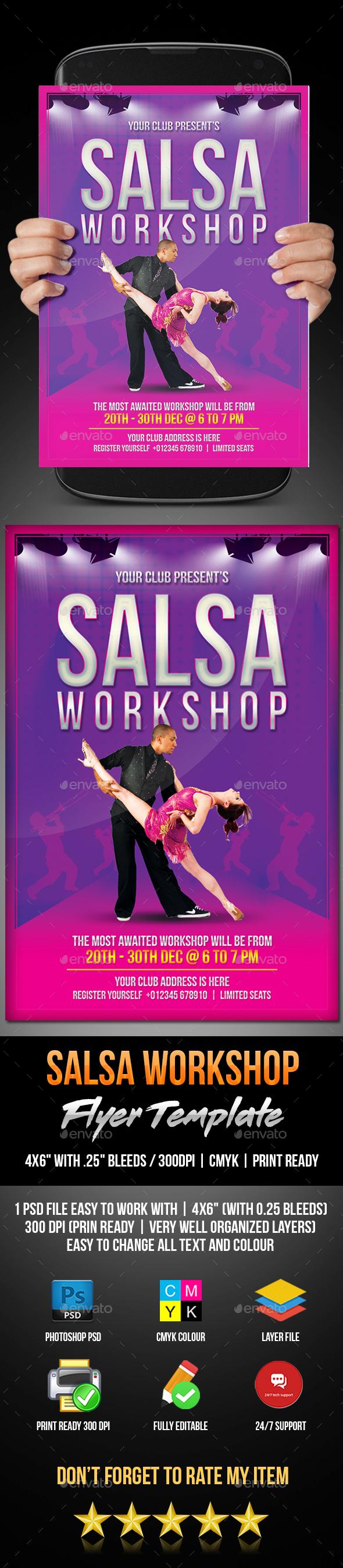 Salsa Workshop Flyer - Flyers Print Templates