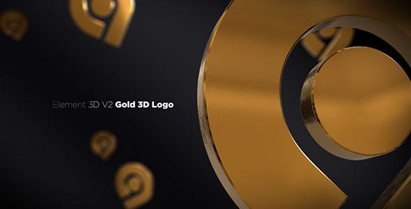 Gold 3D Logo Opener 20842906
