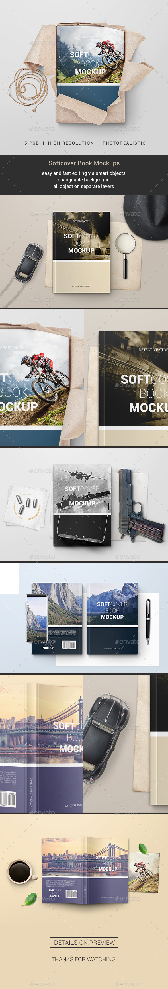GraphicRiver Softcover Book Mockups 20842985
