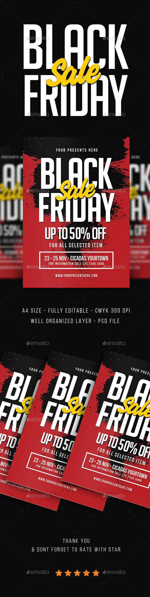 Black Friday Sale Flyer Vol.3 - Events Flyers