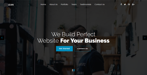 Lean - OnePage MultiPurpose Joomla! Template - Business Corporate
