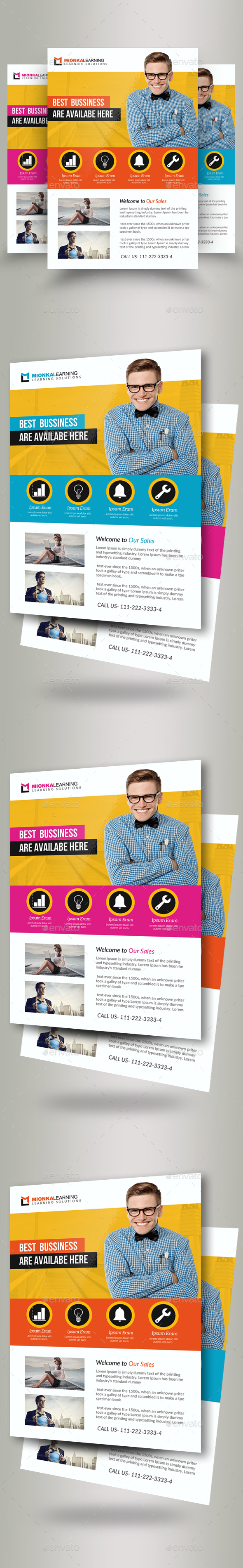 GraphicRiver Business Marketing Consultant Flyers 20843292