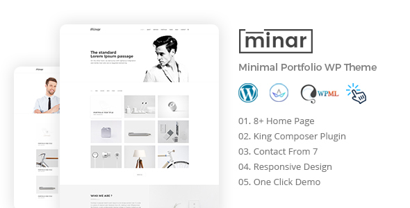 Download Minar - Minimal Portfolio WordPress Theme