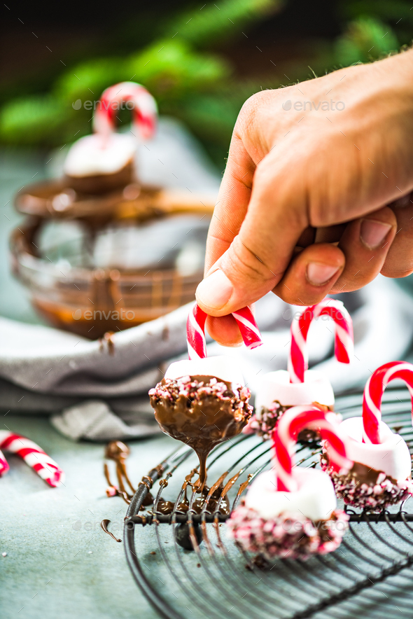 Making creative Christmas sweets. - Stock Photo - Images