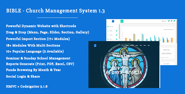 Bible - Church Management System 1.3 - CodeCanyon Item for Sale