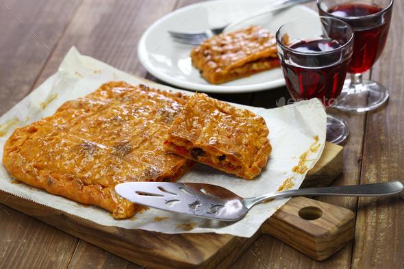 homemade galician empanada - Stock Photo - Images