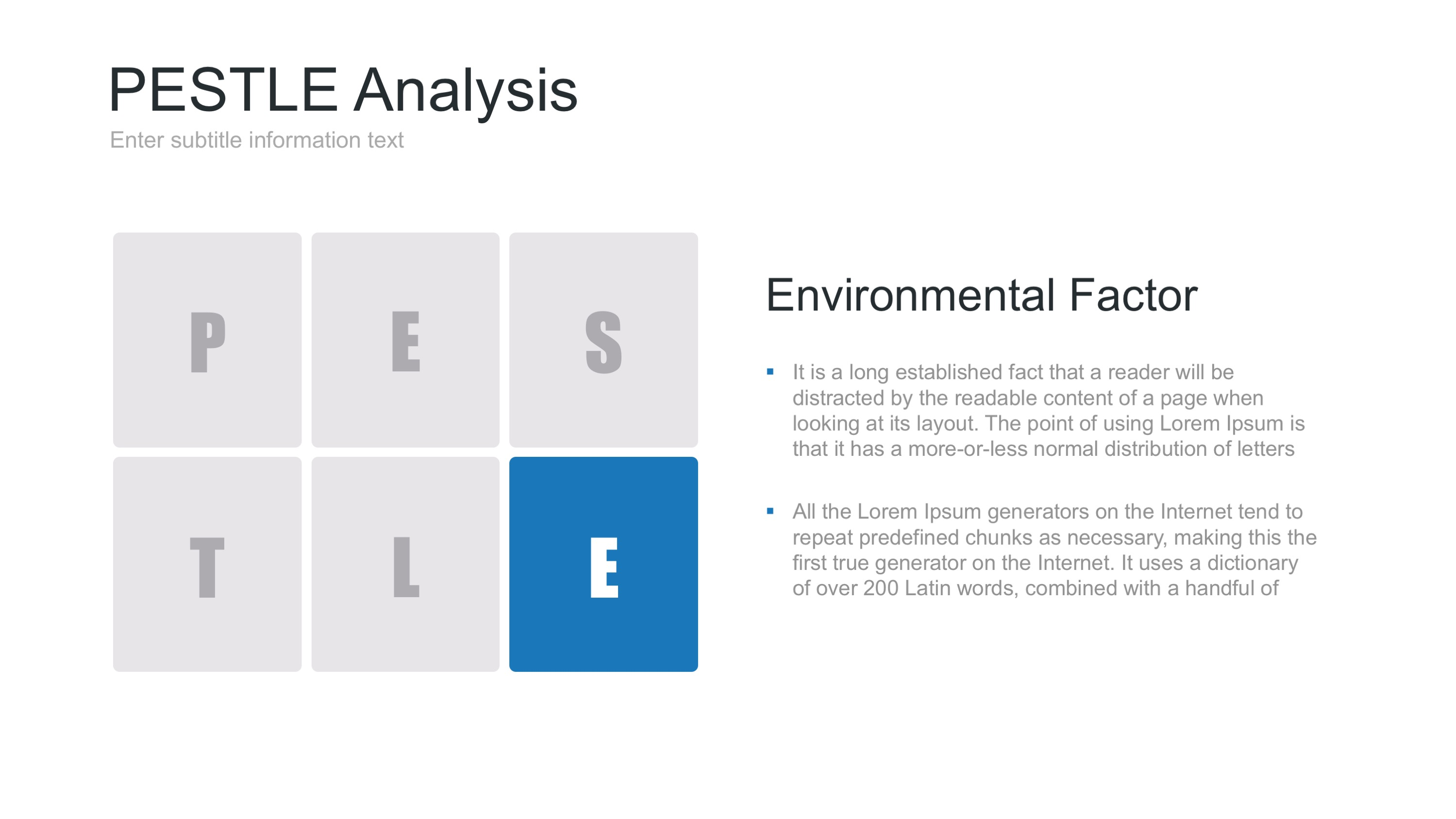 pest analysis charity 11 pestle - external analysis category: a primary tool description and purpose: the pestle analysis is a commonly used tool that sorts and analyses key factors from the external environmental that could impact upon the advocacy campaign.