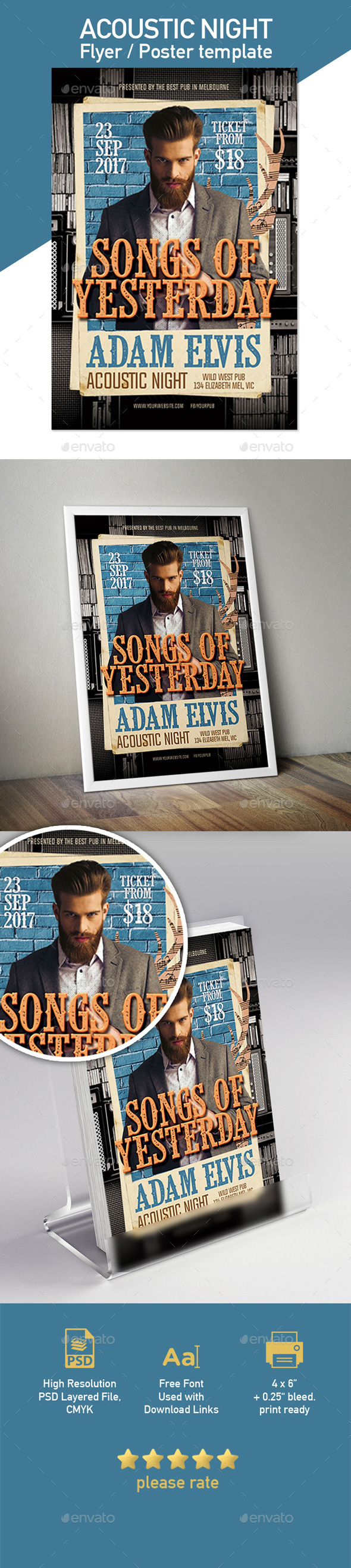 Acoustic Night Flyer Template - Concerts Events