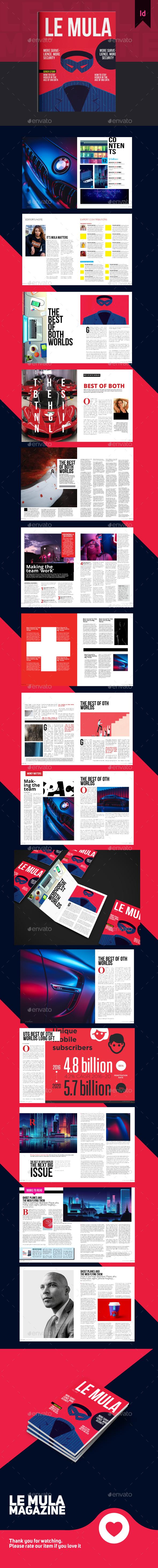 Le Mula Finance Magazine Template - Magazines Print Templates