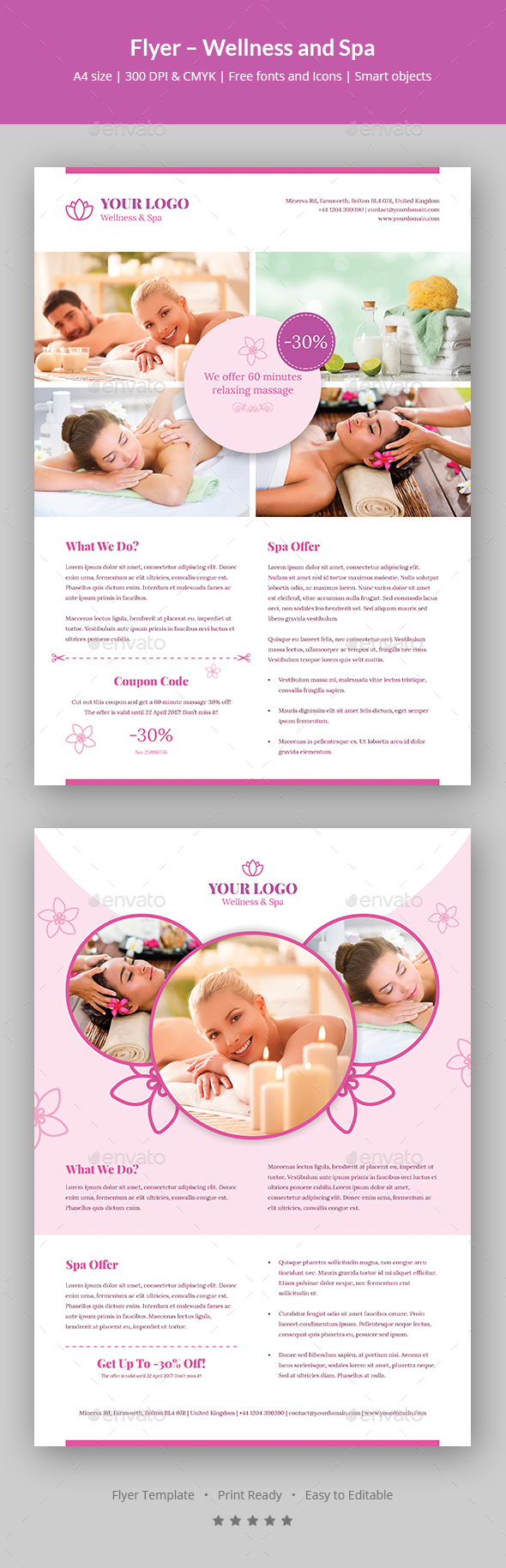 Flyer – Wellness and Spa - Corporate Flyers