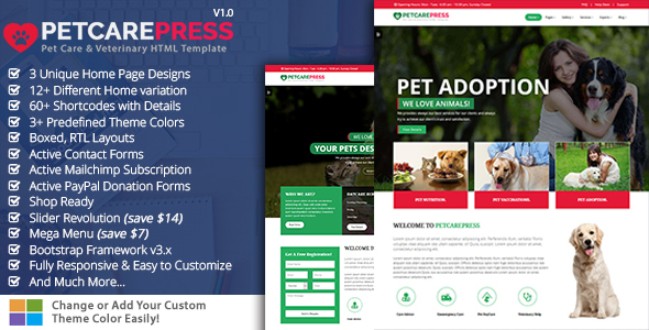 ThemeForest Pet Grooming Pet Sitter Veterinary Shop Pet Care Press 20649576