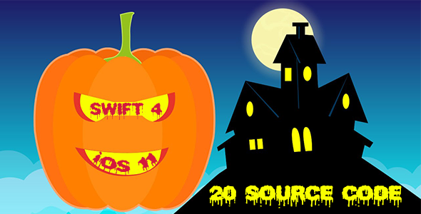 Halloween Bundle Sale - 20 Source Codes in iOS 11 and Swift 4 - CodeCanyon Item for Sale