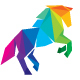 Horse Colorful Polygon Logo