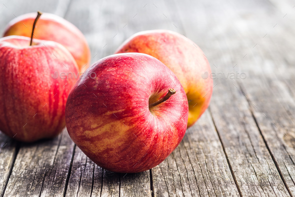 Fresh red apples. - Stock Photo - Images