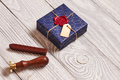 Christmas present and wax seal stamp - PhotoDune Item for Sale