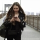Young Woman with Smartphone Walking in the City, Steadicam Shot. New York - VideoHive Item for Sale