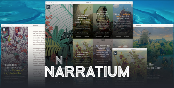 ThemeForest Narratium Simplicity for authors 20844434